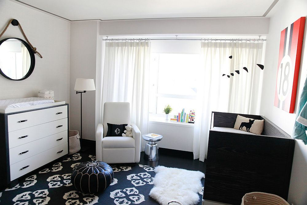 Black and white is a color scheme that never fails! [Design: Touijer Designs]