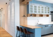 Blue and gray for the modern kitchen
