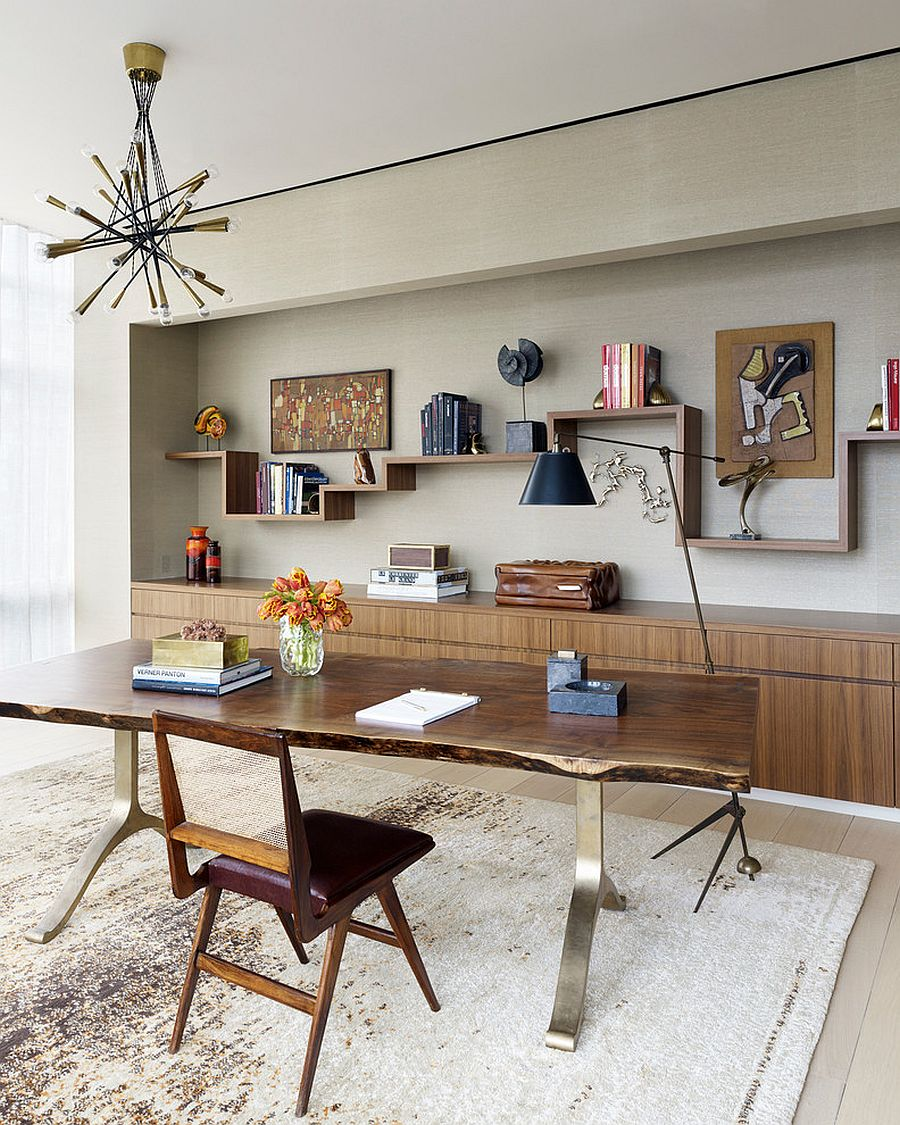 Breezy home office of NYC residence keeps things simple and uncluttered [Design: Amy Lau Design]