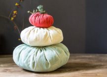 Cinderella fabric pumpkin craft [From: garden matter]
