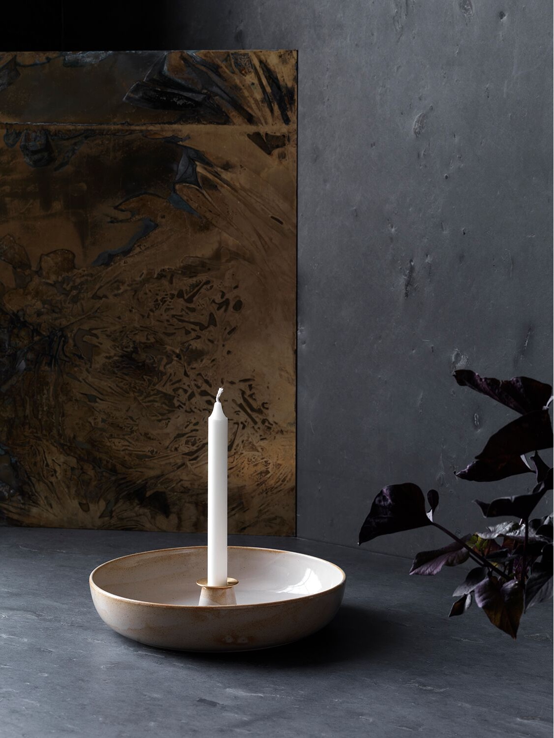 Light Tray candlestick by Cecilie Manz for Objects.
