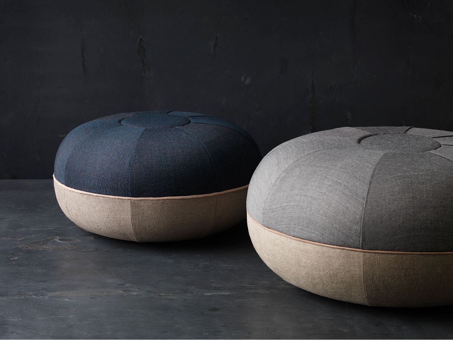 Poufs by Cecilie Manz for Objects.
