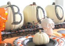 Chic pumpkin decorating idea still brings home the Halloween vibe