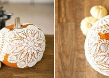 Cozy and beautiful Doily Pumpkins [From: Allyson baker design]