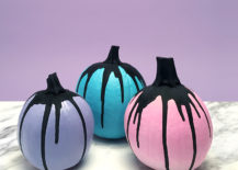 20 creative painted pumpkin ideas for Pumpkin cut out ideas