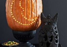 Crescent moon pumpkin allows you to light up your home in style this Halloween [From: The Garden Love]