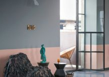 Curated modern decor, vintage pieces and flea market finds shape the gorgeous renovated loft