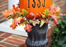 DIY Address Pumpkin for a cool Halloween entryway [From: In My Own Style]