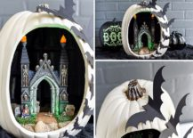 DIY Bat Pumpkin Diorama