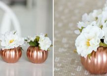 DIY Copper pumpkin vases [From: up to date interiors]