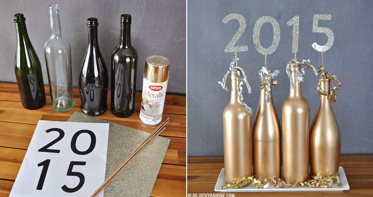DIY New Year's Eve centerpiece
