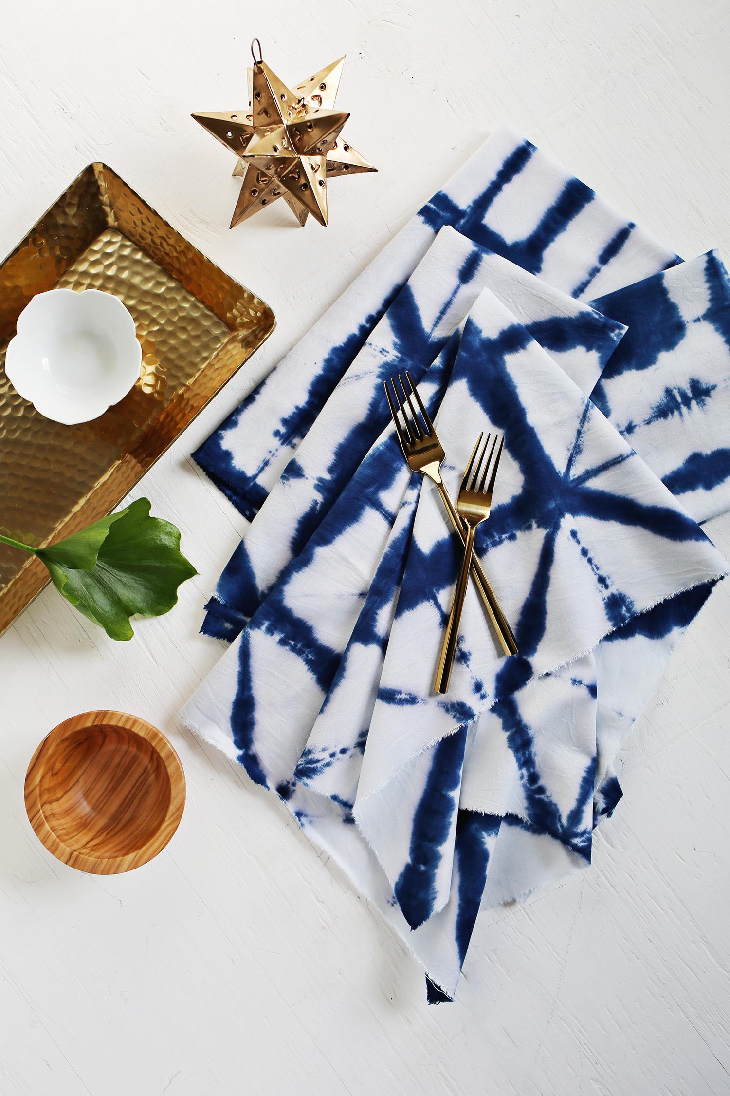 DIY Shibori napkins from A Beautiful Mess