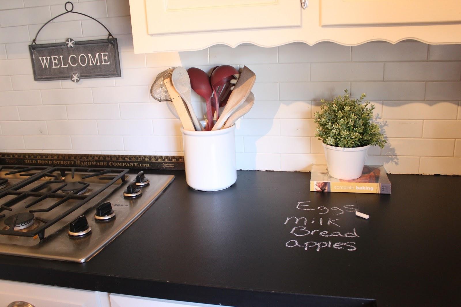 DIY chalkboard countertops