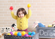 DIY chalkboard toy box from A Beautiful Mess