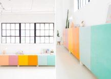 DIY color blocked storage from Sugar & Cloth