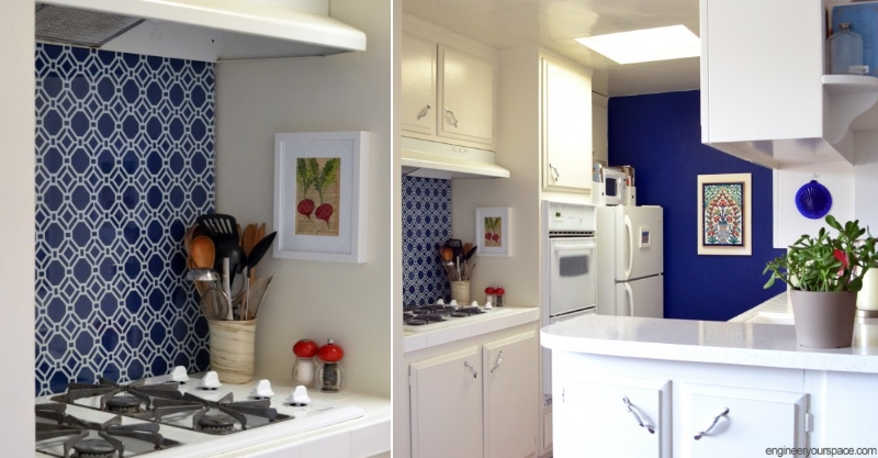 DIY fabric backsplash