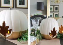 DIY modern and stylish pumpkin centerpieces from Home made by Carmona