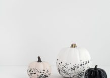 DIY paint splattered pumpkins idea [From: Homey Oh My