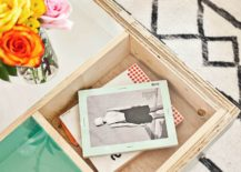 DIY storage coffee table from A Beautiful Mess
