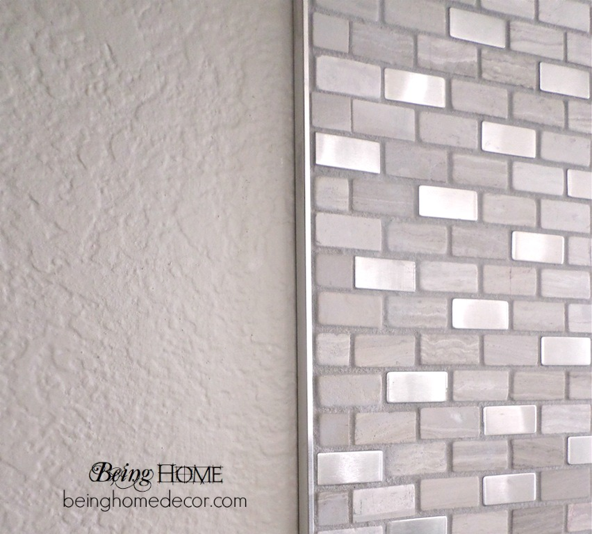 DIY stove backsplash