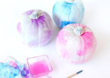 DIY watercolor pumpkins for those who love pastel hues