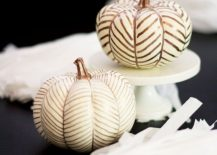 Dashing pumpkins combine metallic style with herringbone pattern [From: Lovely Indeed]