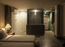 Design of the hotel room with bath space