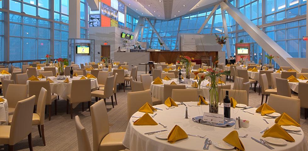 Elegant table settings at a Minnesota Twins fundraiser