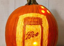 Elegantly lit Mason Jar Pumpkin brings that classic country charm ro your Halloween decorating