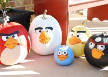 Fabulous Angry Birds pumpkins for a colorful and super fun Halloween