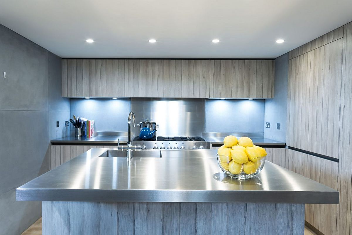 Fabulous kitchen inside the church turned into a residential units