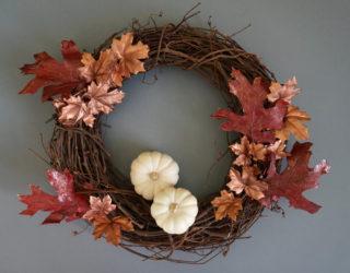 A DIY Fall Wreath with Metallic Shine