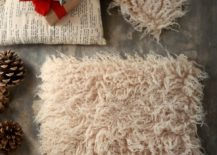Faux fur seat cushions from H&M Home