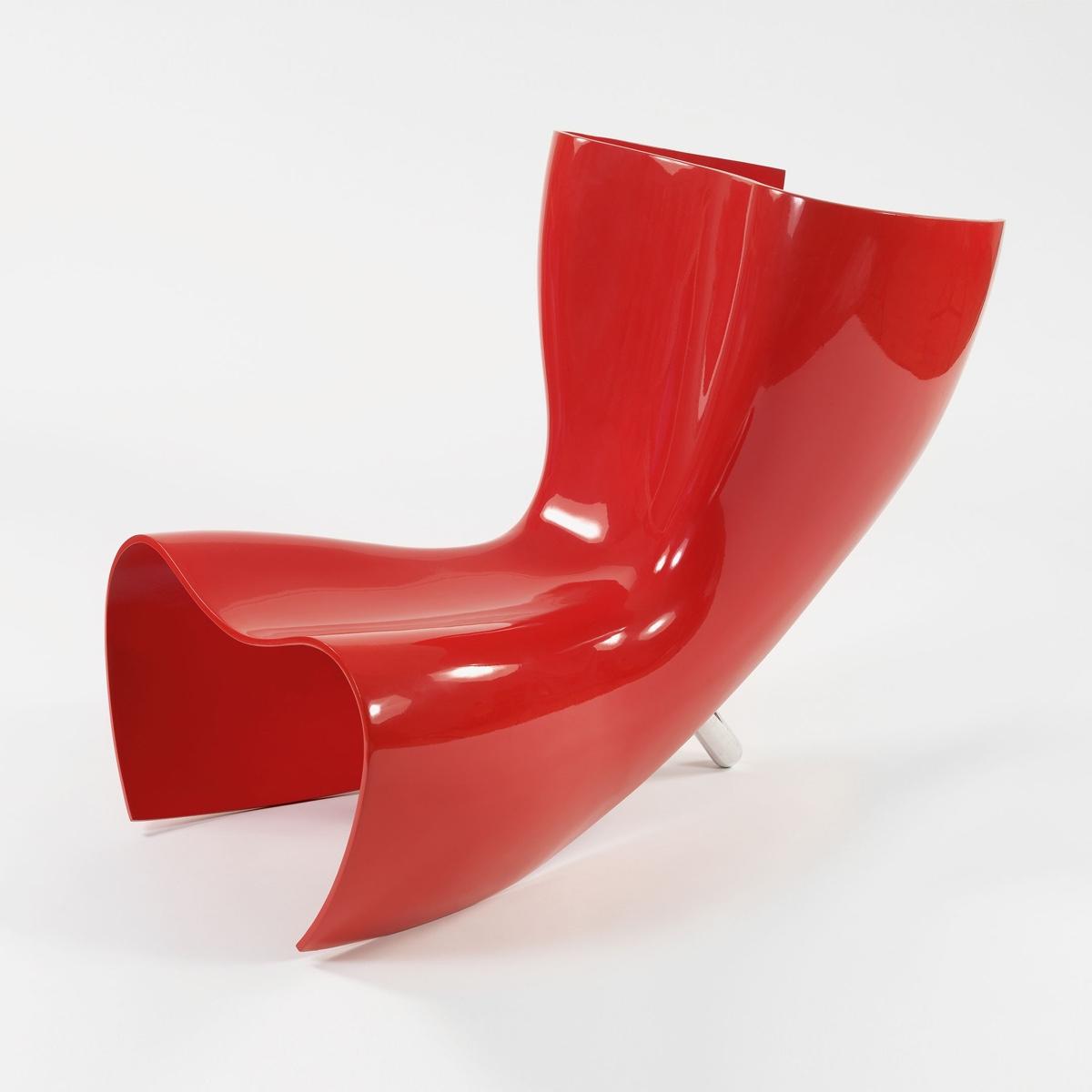Felt chair byMarc Newson. Image© 2016 Marc Newson Ltd.