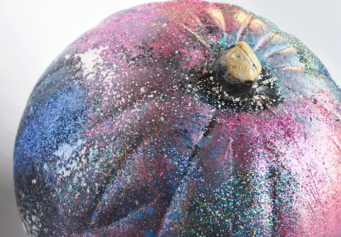 Galaxy art pumpkin from Easy Pumpkin Ideas