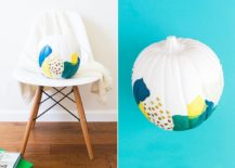 Geo style comes home with abstract pumpkin from Sarah Hearts