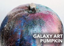 Glittering and gorgeous DIY galaxy pumpkin