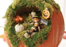 Gorgeous-halloween-fairy-garden-inside-a-pumpkin-217x155