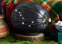 Gorgeously lit and carved pumpkin brings the Big Dipper indoors! [From: Country Living]
