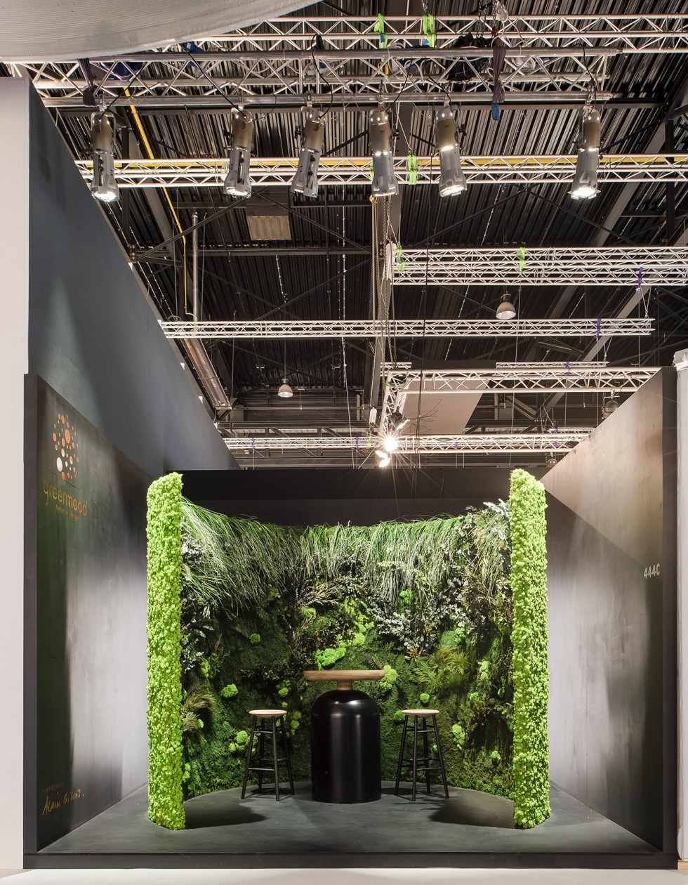 Biennale Interieur exhibition booth for Green Mood by Alain Giles.