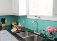 Green-painted-backsplash-from-A-Beautiful-Mess-217x155