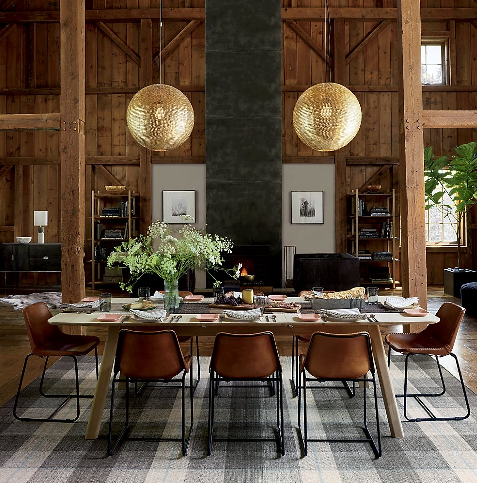 Grey meets wood in this room designed by CB2