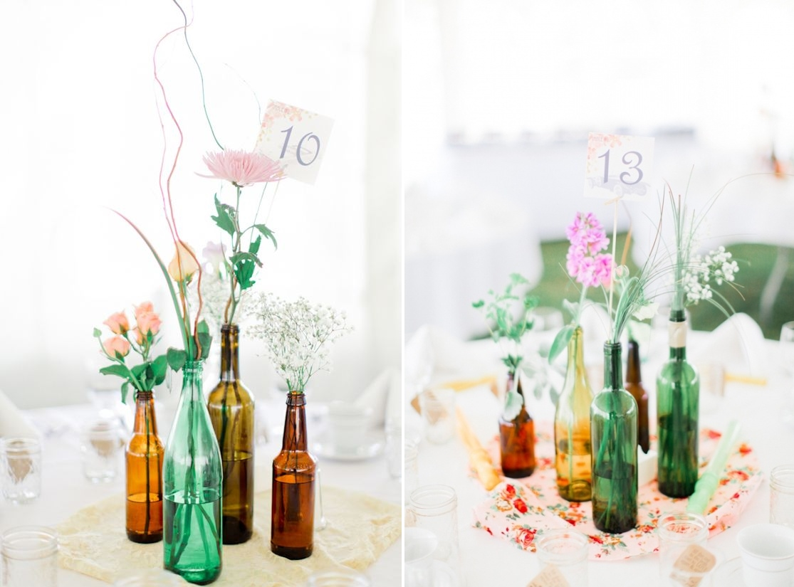 Grouping of bottles and flowers (photo credit: Jordan Brittley)