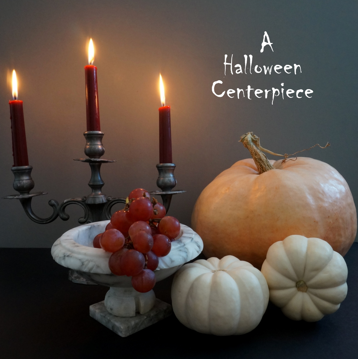 Halloween centerpiece idea A Decadent Halloween Centerpiece Idea