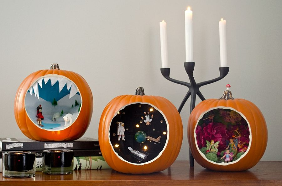 Halloween pumpkin dioramas let you showcase your FIY and crafting skills [Photo: Bruno Bornsztein / Curbly]