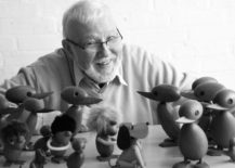 Hans Bolling and wooden figures