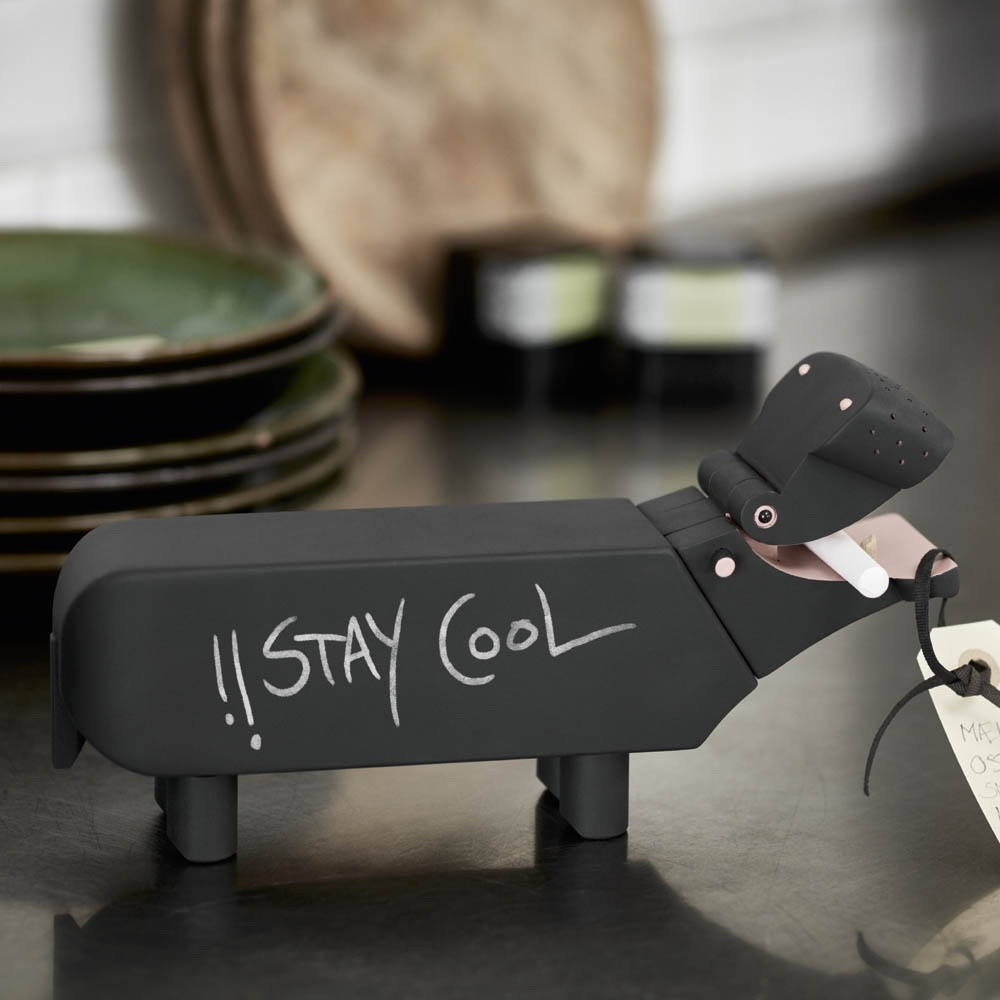 Kay Bojesen's Hippo painted with blackboard paint. Image via Designers-Avenue.