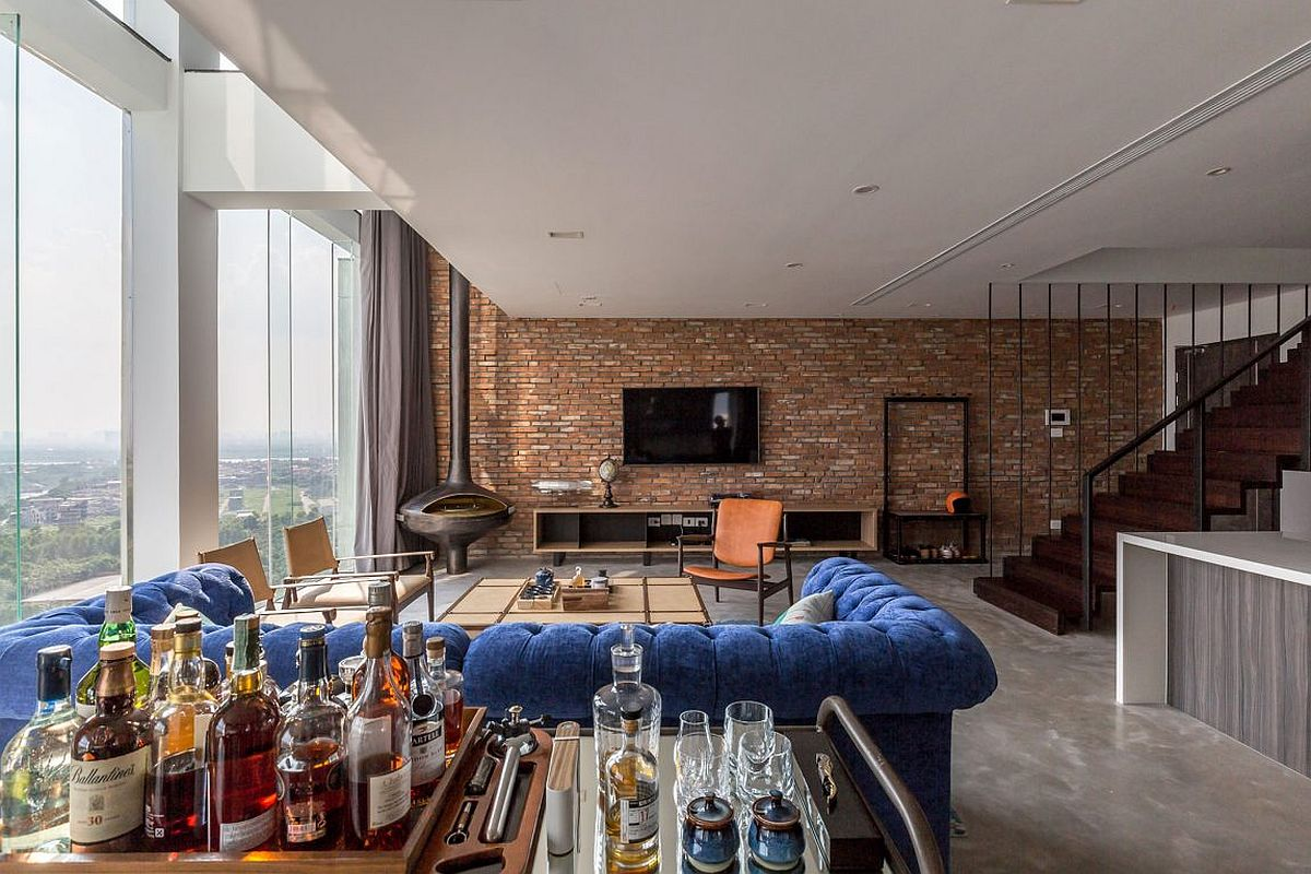 Home bar and living area of Penthouse Ecopark
