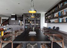 Home bar, dining room and library rolled into one