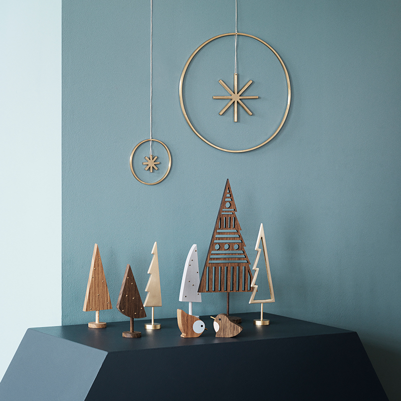 Laser-cut trees from ferm LIVING